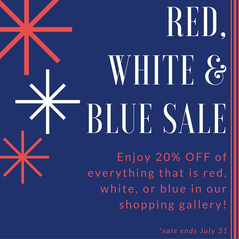 red,white,& Blue sale